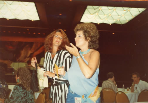 UAC '89 Erin Sullivan and Angel Thompson enjoy the River Cruise